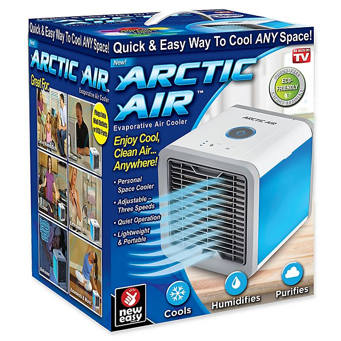 Arctic Air 174 Evaporative Air Cooler In White Blue Bed