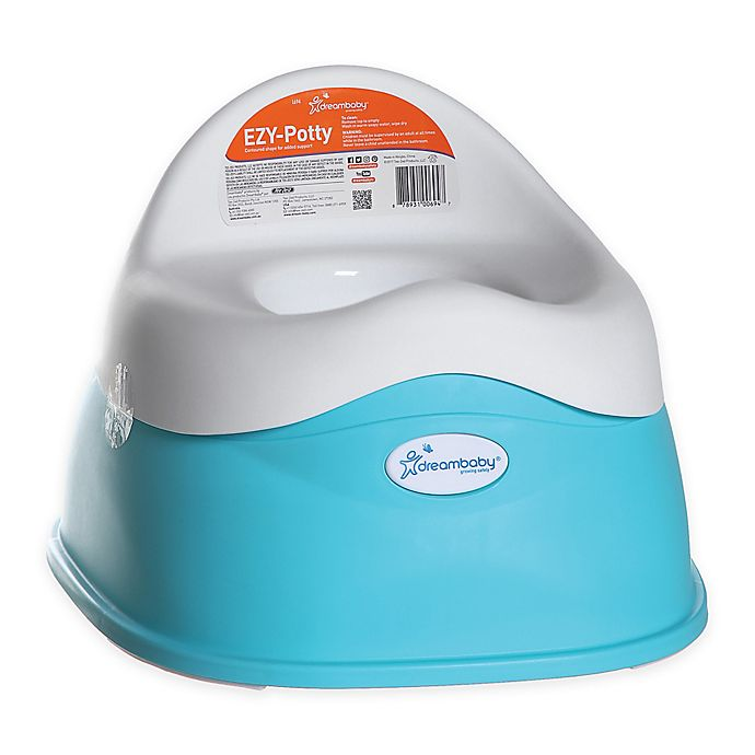 Alternate image 1 for Dreambaby® EZY Potty in Aqua and White