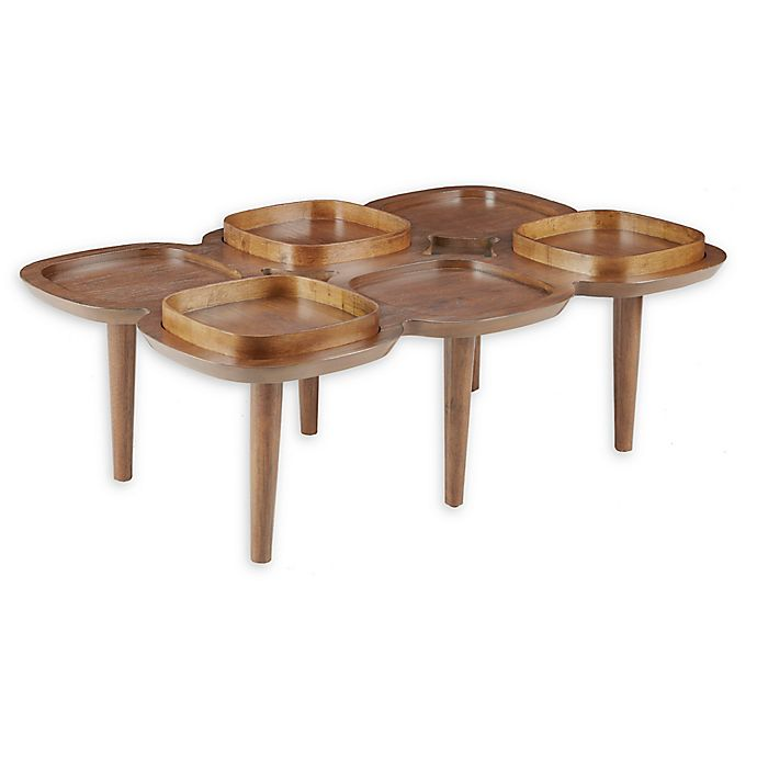Ink Ivy Oden Coffee Table In Pecan