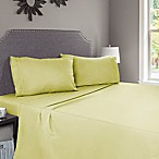 Nottingham Home Embroidered Brushed Microfiber Queen Sheet Set in Sage