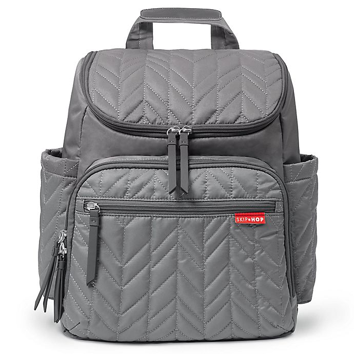 Alternate image 1 for SKIP*HOP® Forma Backpack Diaper Bag in Grey