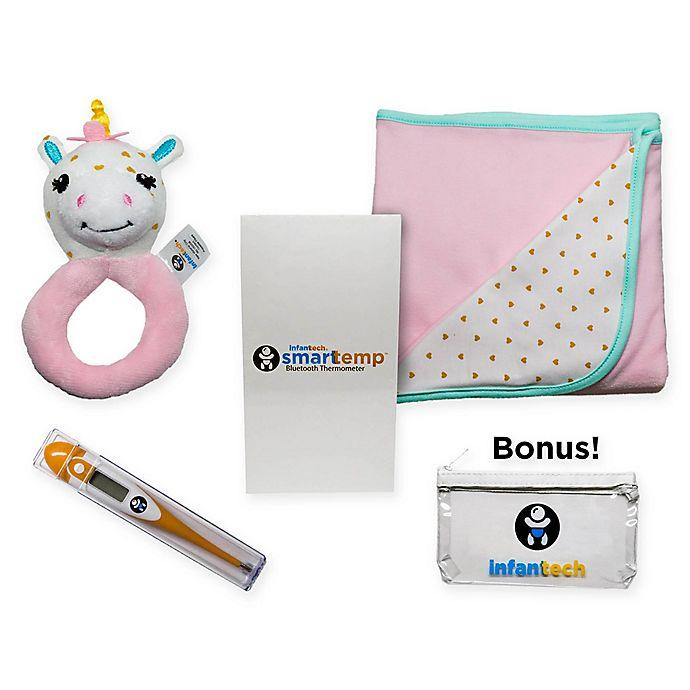 Alternate image 1 for Infanttech 5-Piece Giraffe Smarttemp Gift Set