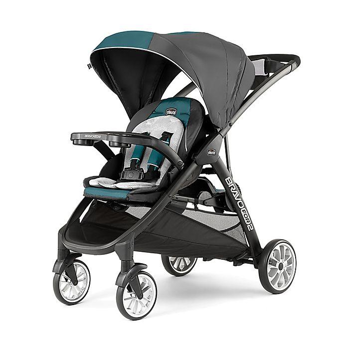 Alternate image 1 for Chicco® BravoFor2™ LE Double Stroller in Eucalyptus