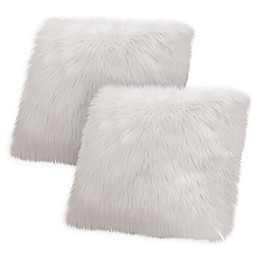 Jean Pierre Faux Fur Square Throw Pillow (Set of 2)