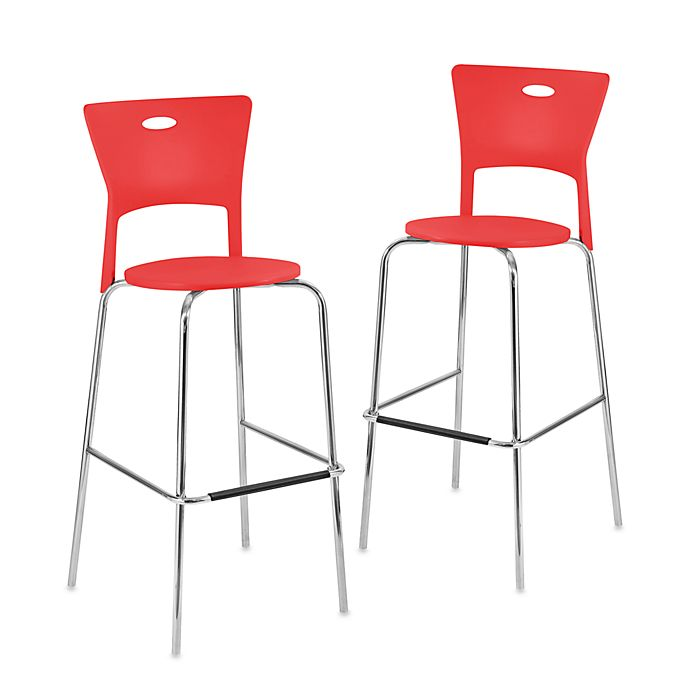 Buy Lumisource Mimi Stackable Barstool In Red Set Of 2