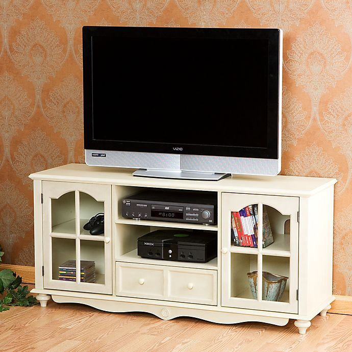 Alternate image 1 for Southern Enterprises Coventry Large TV Console in Antique White