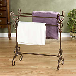 Southern Enterprises Lourdes Blanket and Quilt Rack