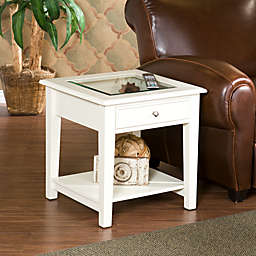 Southern Enterprises Panorama End Table in White