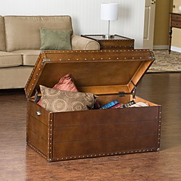 Southern Enterprises Steamer Trunk Cocktail Table