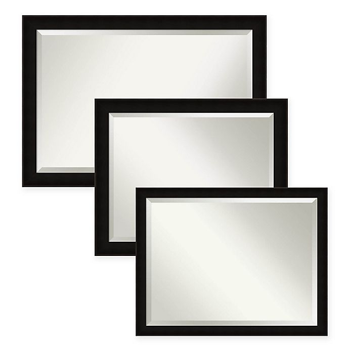 Alternate image 1 for Manteux Bathroom Mirror in Black