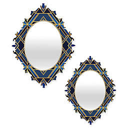DENY Designs Elisabeth Fredriksson Geo Baroque Mirror in Blue
