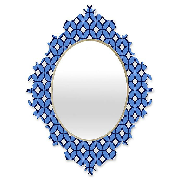 Alternate image 1 for DENY Designs Caroline Okun Blueberry Medium Baroque Mirror