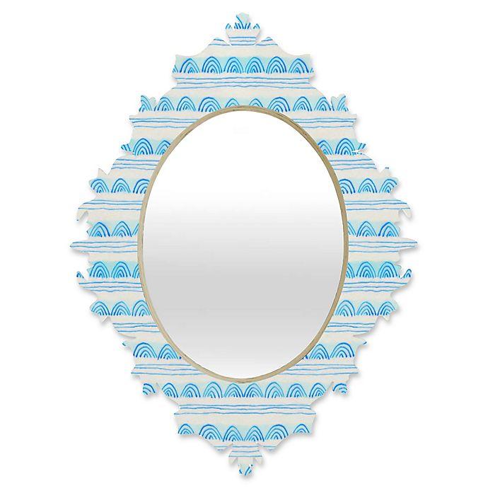 Alternate image 1 for DENY Designs Cori Dantini Scallops Medium Baroque Mirror in Blue