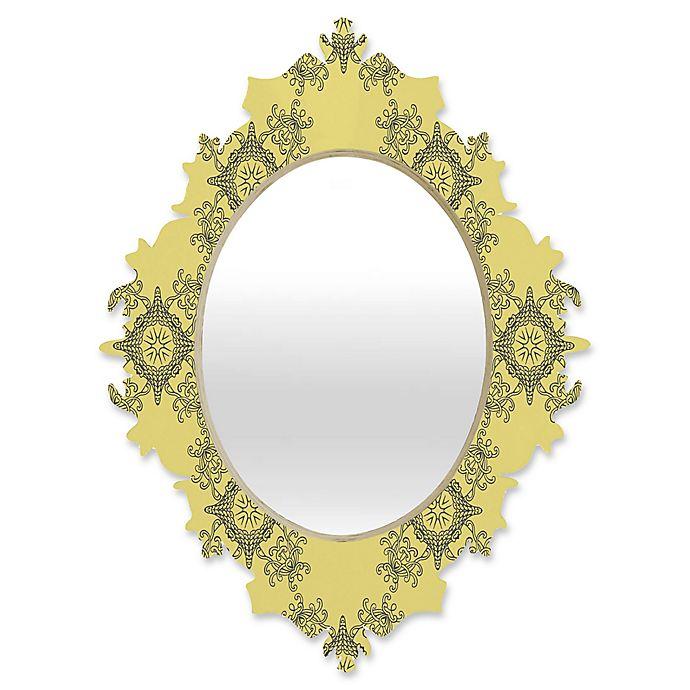 Alternate image 1 for DENY Designs Lara Kulpa Ornamental Small Baroque Mirror in Yellow
