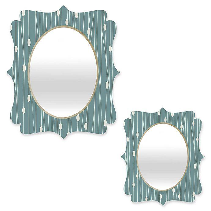 Alternate image 1 for Deny Designs® Heather Dutton Oval Entangled Quatrefoil Mirror in Teal