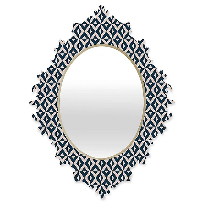 Alternate image 1 for Deny Designs® Khristian A. Howell Michella 19-Inch x 14-Inch Oval Nina Baroque Mirror in Navy