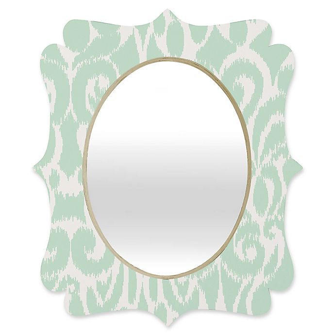 Alternate image 1 for Deny Designs® Khristian A. Howell 29-Inch x 22-Inch Oval Eloise Quatrefoil Mirror in Mint