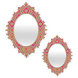 Deny Designs® Pattern State Oval Tile Tribe Baroque Mirror in Tang