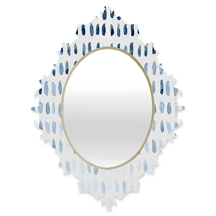 Alternate image 1 for Deny Designs® Social Proper 29-Inch x 22-Inch Oval Proof of Life Baroque Mirror in Blue