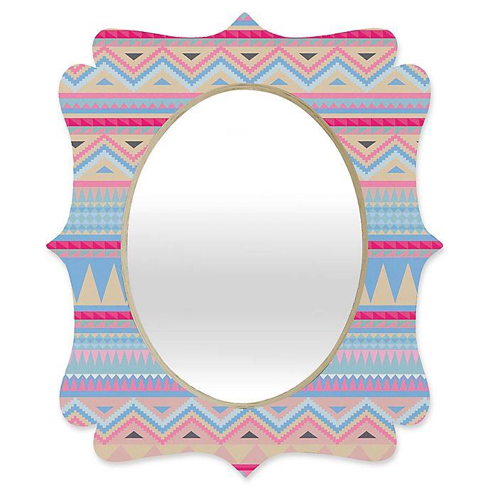 Alternate image 1 for Deny Designs® Iveta Abolina 29-Inch x 22-Inch Oval Pastel Navajo Quatrefoil Mirror