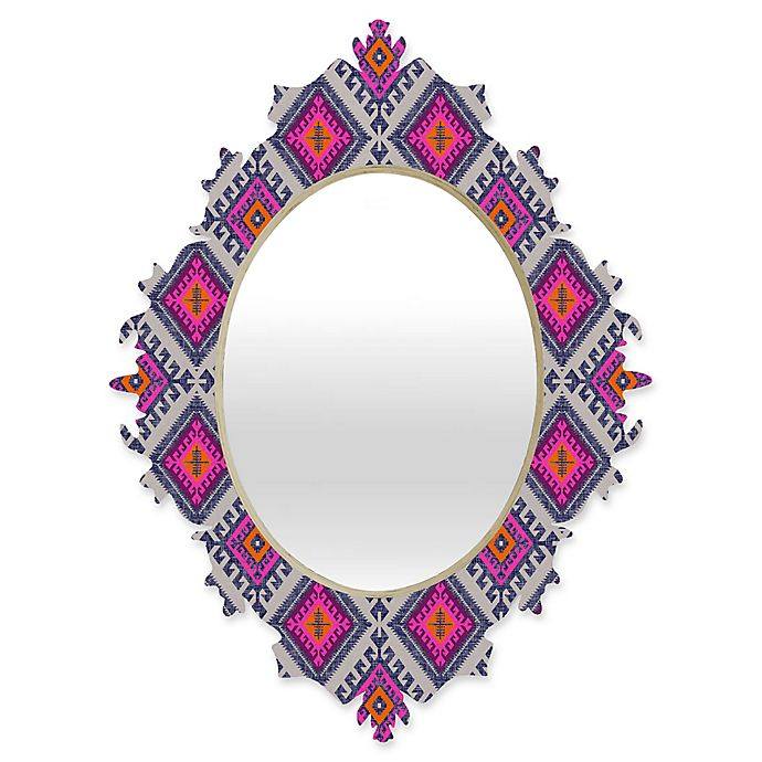 Alternate image 1 for Deny Designs® Holli Zollinger 29-Inch x 22-Inch Oval Shakami Bright Baroque Mirror