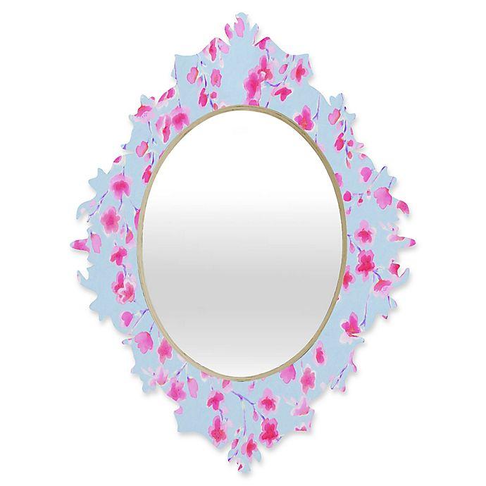 Alternate image 1 for Deny Designs® Jacqueline Maldonado 29-Inch x 22-Inch Oval Cherry Blossom Baroque Mirror