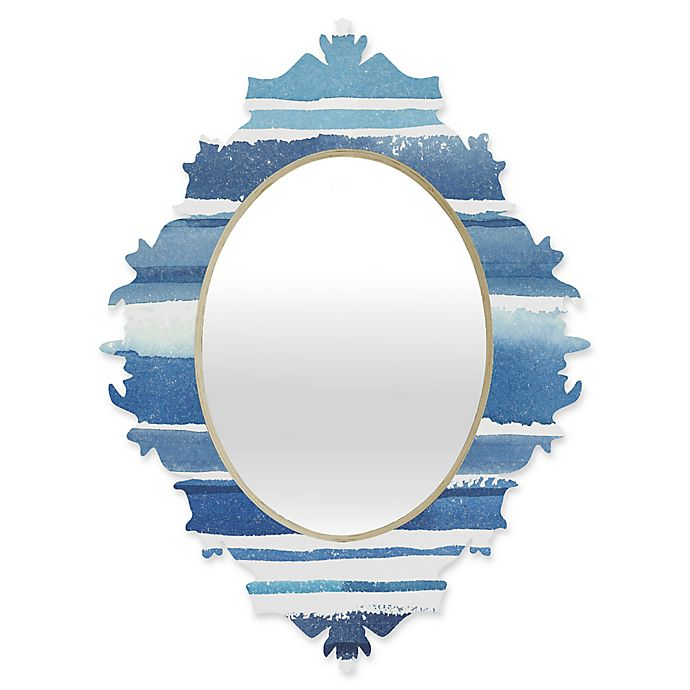 Alternate image 1 for Deny Designs® Kerrie Satava 29-Inch x 22-Inch Oval Caribbean Shore Baroque Mirror in Blue
