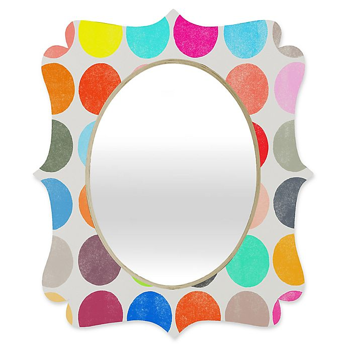 Alternate image 1 for Deny Designs® Garima Dhawan 29-Inch x 22-Inch Oval Colorplay 1 Quatrefoil Mirror
