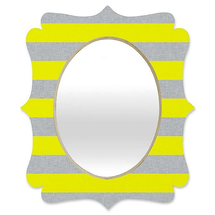 Alternate image 1 for Deny Designs® Holli Zollinger 29-Inch x 22-Inch Oval Bright Stripe Quatrefoil Mirror
