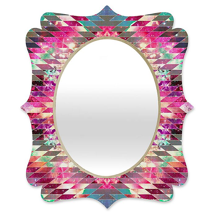 Alternate image 1 for Deny Designs® Bianca Green 29-Inch x 22-Inch Oval Ancient Star Quatrefoil Mirror