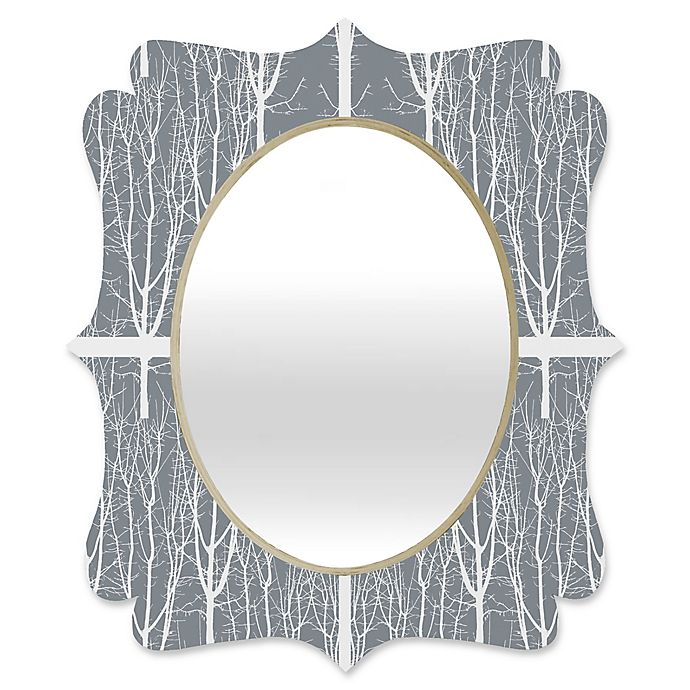 Alternate image 1 for Deny Designs® Karen Harris 29-Inch x 22-Inch Looking Out Quatrefoil Mirror in Ash