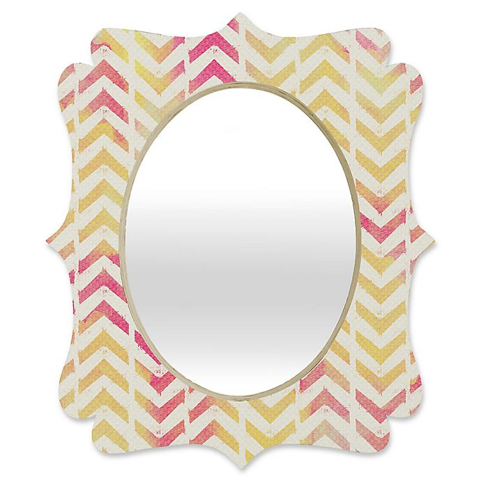 Alternate image 1 for Deny Designs® Allyson Johnson 29-Inch x 22-Inch Oval My Favorite Chevron Mirror