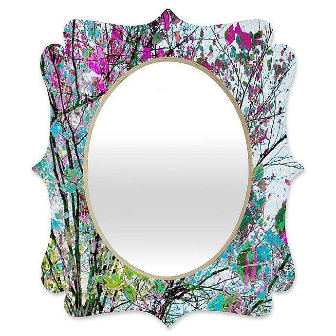 Alternate image 1 for Deny Designs® Juliana Curi 29-Inch x 22-Inch Oval Klein Blue Flower Quatrefoil Mirror