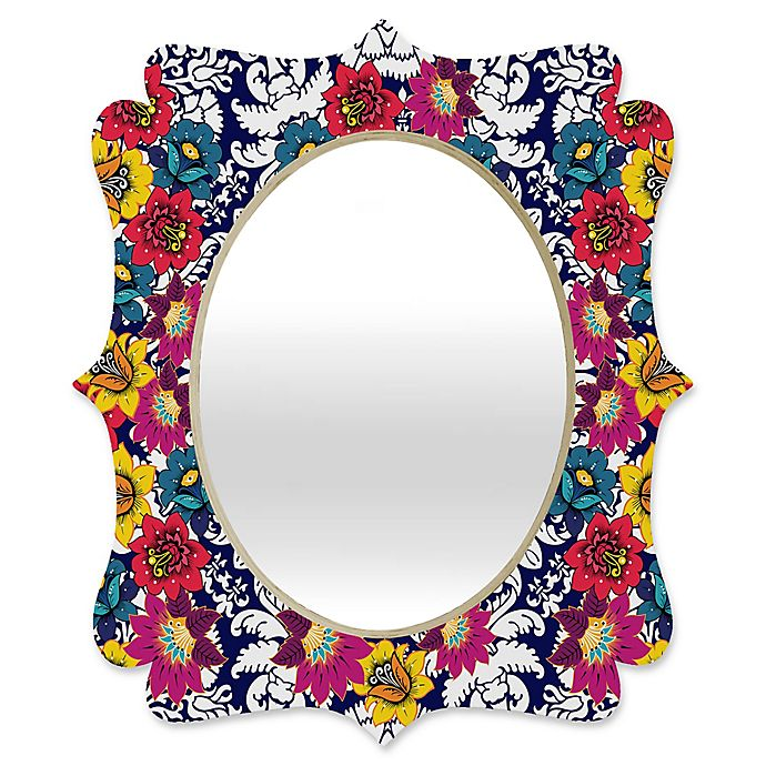 Alternate image 1 for Deny Designs® Hello Twiggs 19-Inch x 14-Inch Oval Pastel Bubbles Quatrefoil Mirror