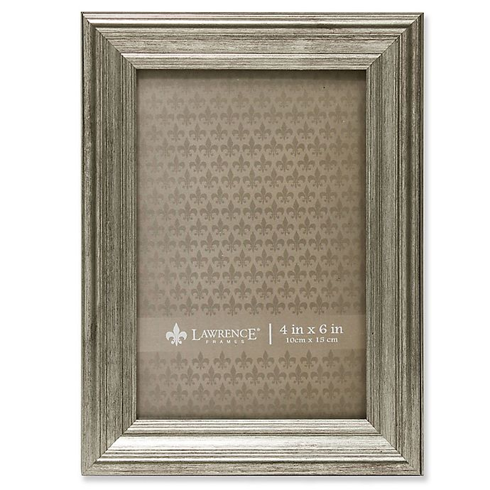 Alternate image 1 for Lawrence Frames Burnished 4-Inch x 6-Inch Picture Frame in Silver