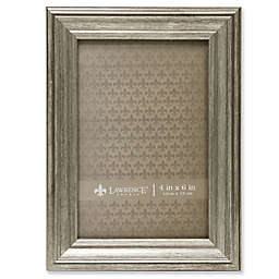 Lawrence Frames Burnished 4-Inch x 6-Inch Picture Frame in Silver