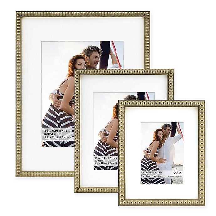 MCS Thin Bead Matted Frame | Bed Bath & Beyond