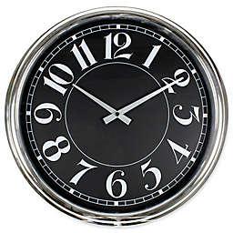 Poolmaster 16-Inch Mod Wall Clock in Black