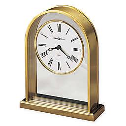 Howard Miller Reminisce Tabletop Clock in Polished Brass