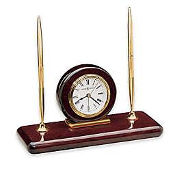 Howard Miller Rosewood Desk Set Table Clock