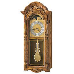 Howard Miller Rothwell 14-Inch Wall Clock in Golden Oak
