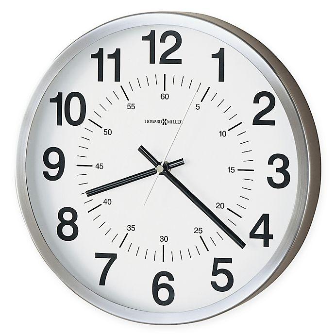 Alternate image 1 for Howard Miller Easton Metal 12-Inch Wall Clock in Spun Nickel