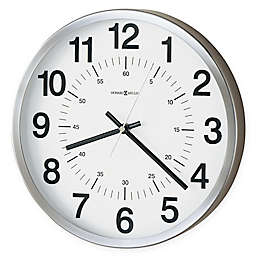 Howard Miller Easton Metal 12-Inch Wall Clock in Spun Nickel