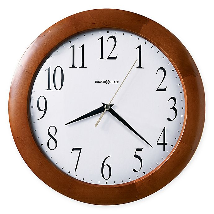 Alternate image 1 for Howard Miller Corporate 12.75-Inch Wall Clock in Windsor Cherry
