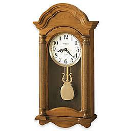 Howard Miller Amanda 12.5-Inch Wall Clock in Golden Oak