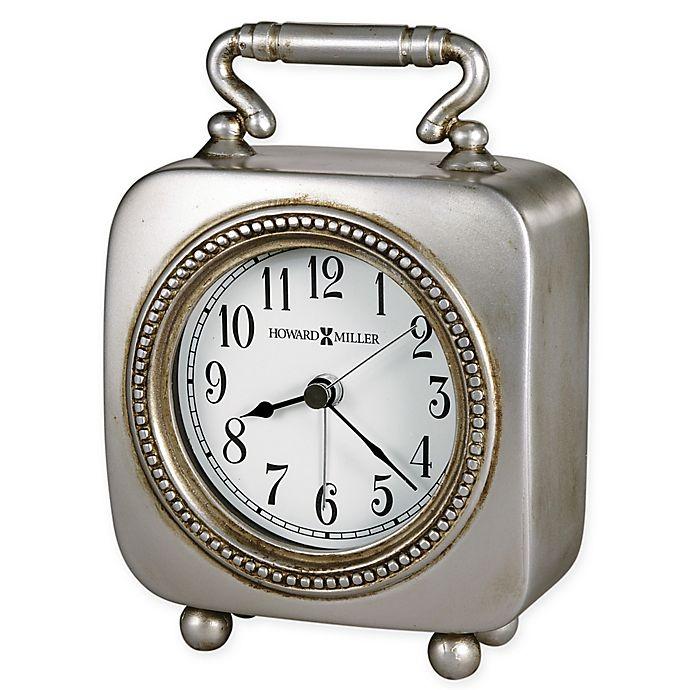 Alternate image 1 for Howard Miller Kegan Tabletop Alarm Clock in Antique Pewter