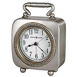 Howard Miller Kegan Tabletop Alarm Clock in Antique Pewter