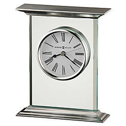 Howard Miller Clifton Table Clock in Silver/Glass