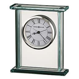Howard Miller Cooper Tabletop Clock in Glass/Chrome