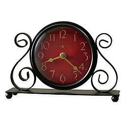 Howard Miller Marisa Tabletop Clock in Cherry/Black